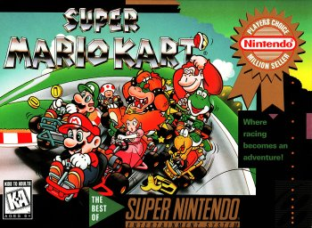 Super Mario Kart High Resolution Box Art