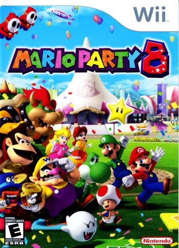 Mario Party 8 High Resolution Box Art
