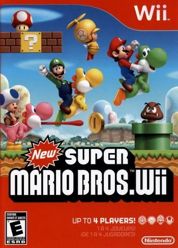 New Super Mario Bros. Wii High Resolution Box Art
