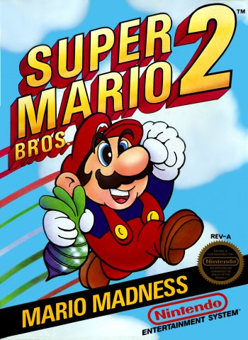 Super Mario Bros. 2 High Resolution Box Art