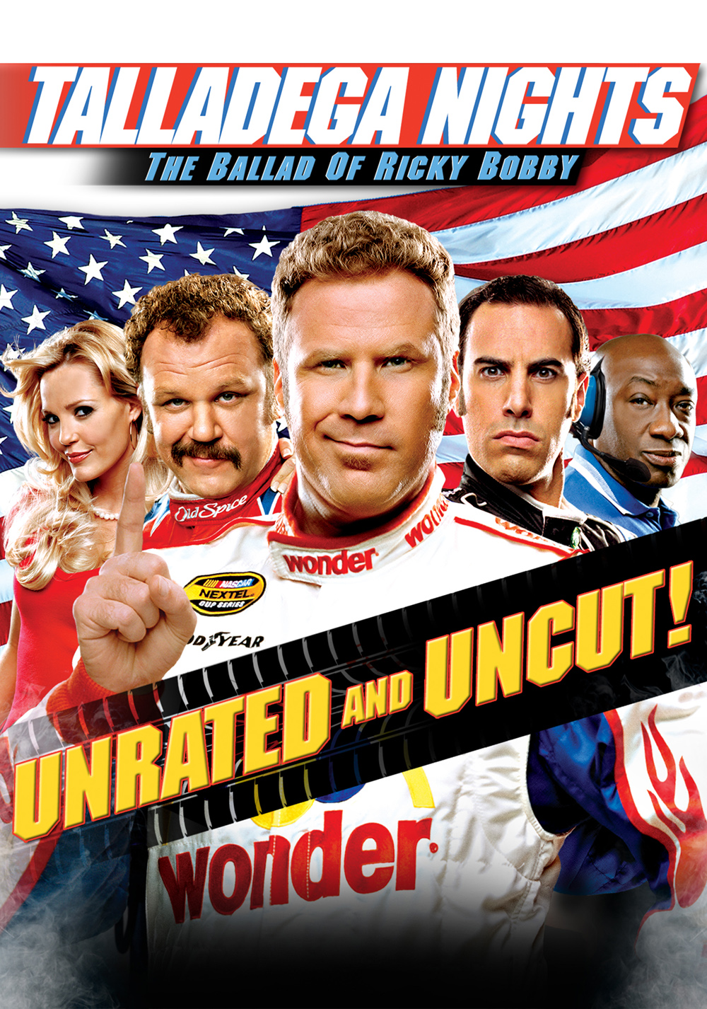 the comic frame in the daily show video about unesco and talladega nights the ballad of ricky bobby