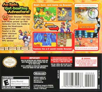 Mario Luigi Bowser S Inside Story Box Arts