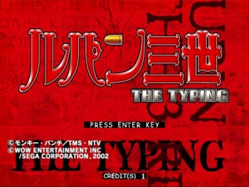 Lupin the 3rd: The Typing