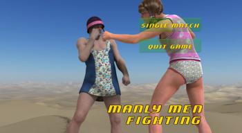 Manly Men Fighting