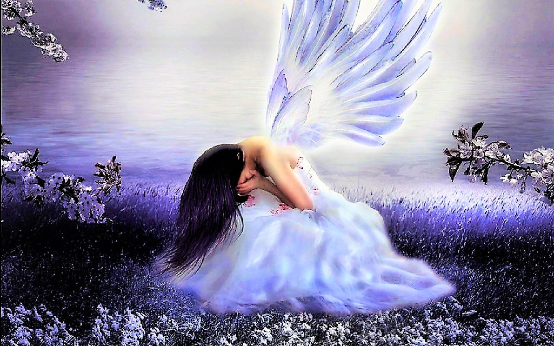 Sad angel image id 198602 image abyss - Sad angel wallpaper ...