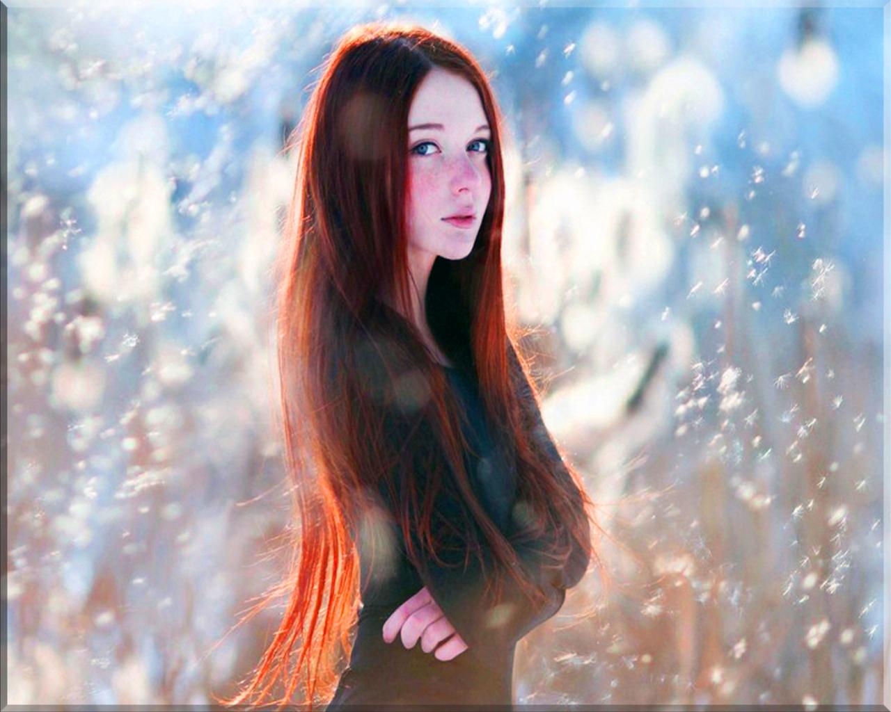 Beautiful redhead models wallpaper