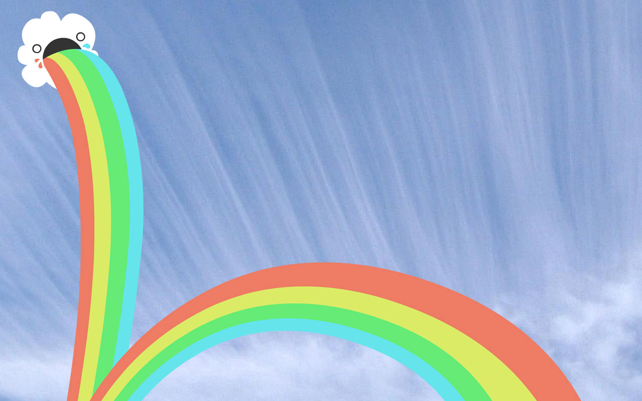 Прикольная картинка с радугой