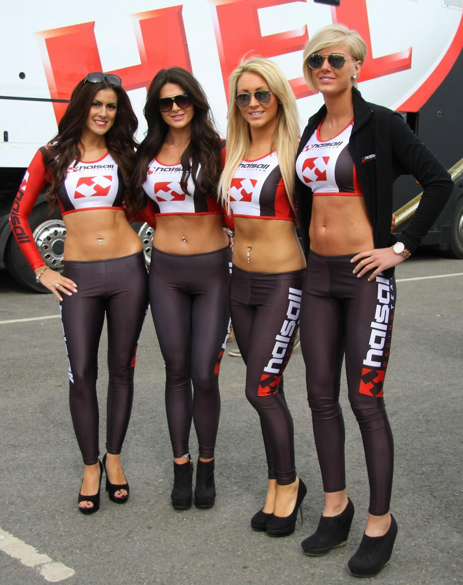 Grid girls top less