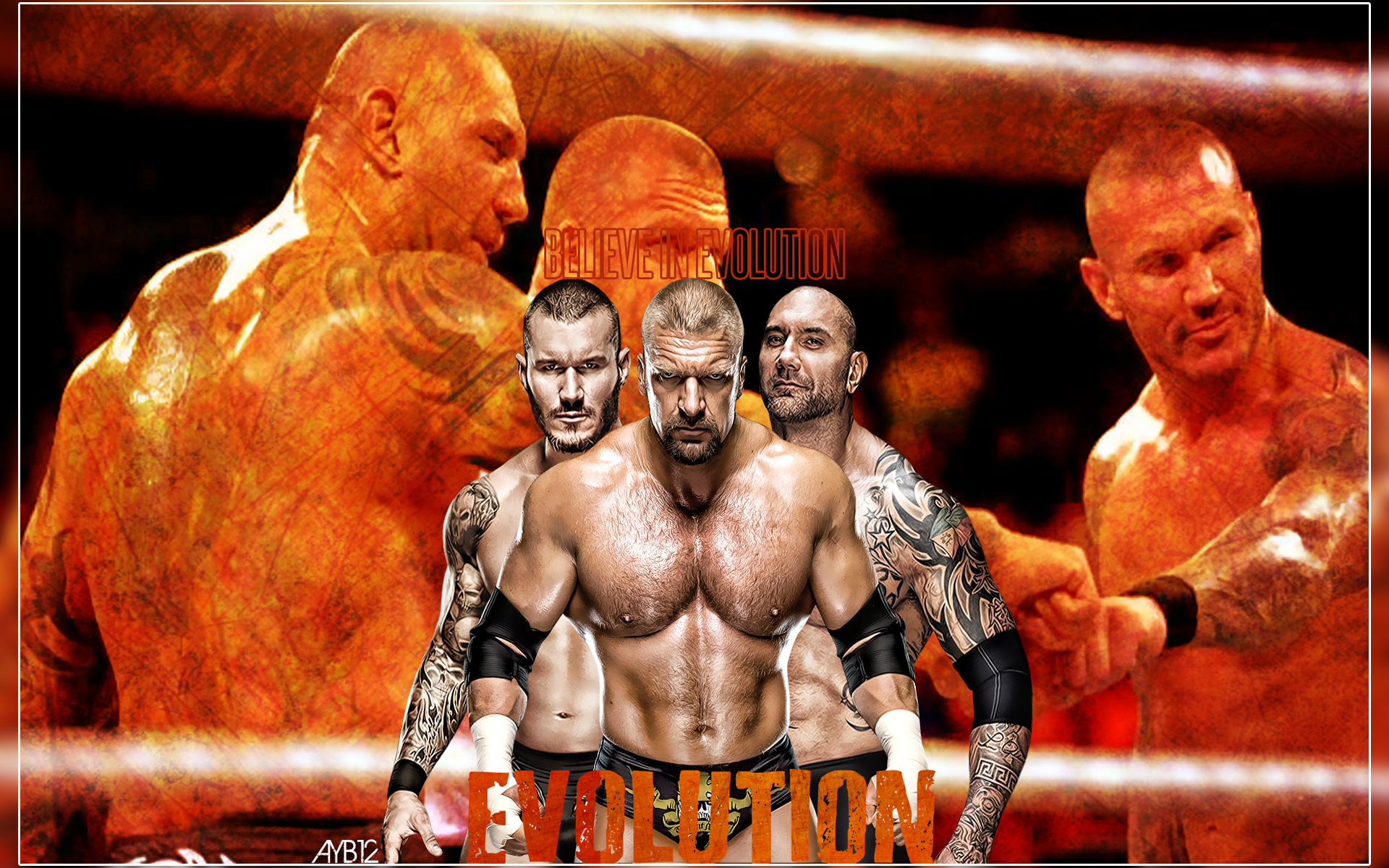 Evolution wwe wallpaper