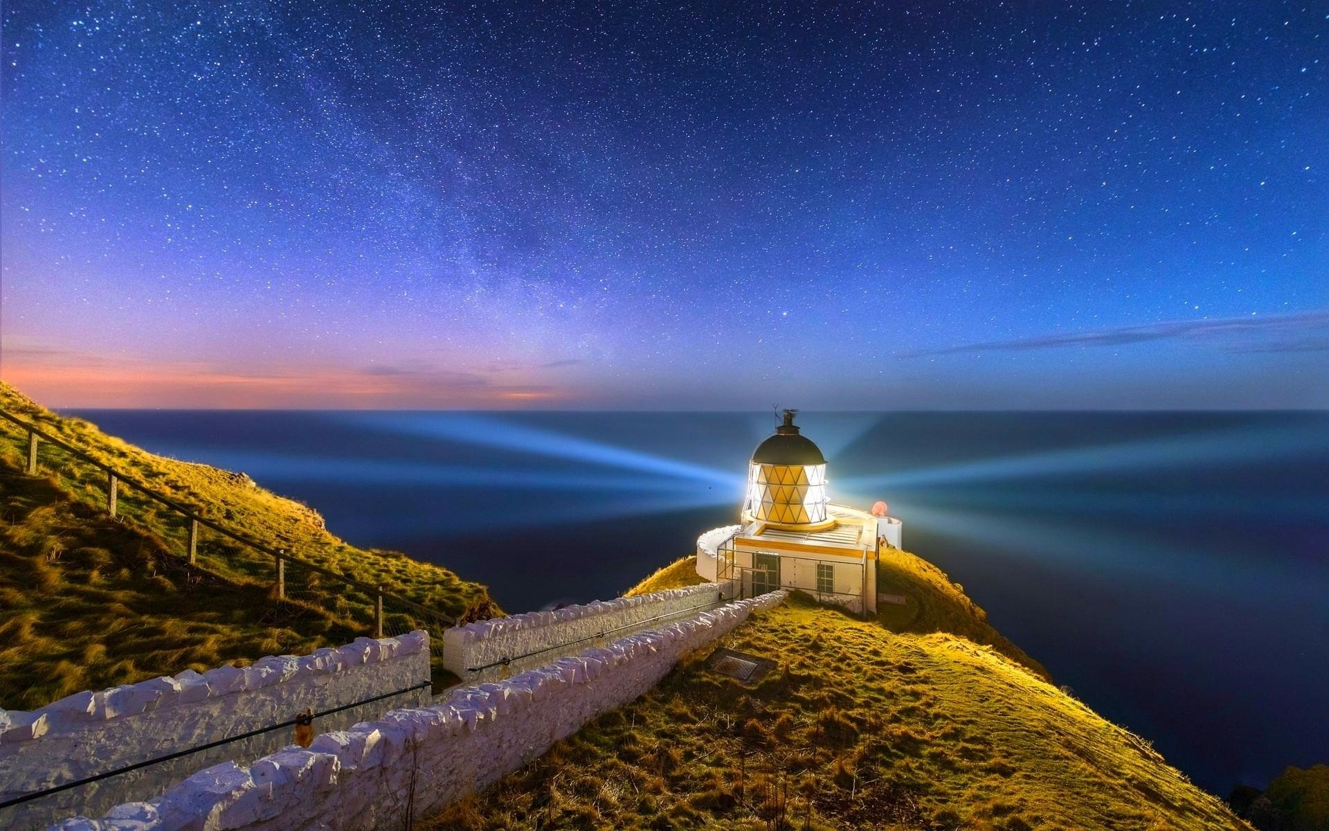 Lighthouse on Starry Night Image - ID: 296933 - Image Abyss