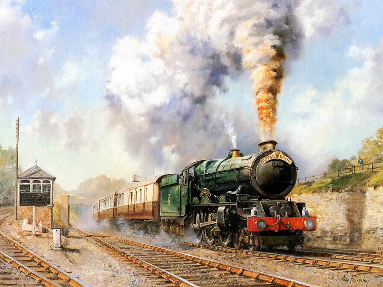 открытка вокзал