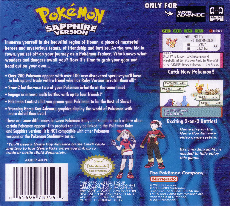 pokemon sapphire version - HD1530×1370