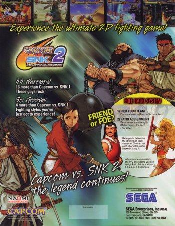 Capcom Vs. SNK 2: Mark of The Millennium 2001