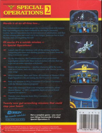 Wing Commander II: Vengeance of the Kilrathi - Special Operations 2