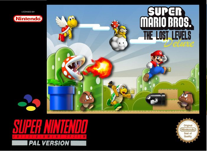 Super Mario Bros The Lost Levels Deluxe Video Game Box Art Id 39485 Image Abyss