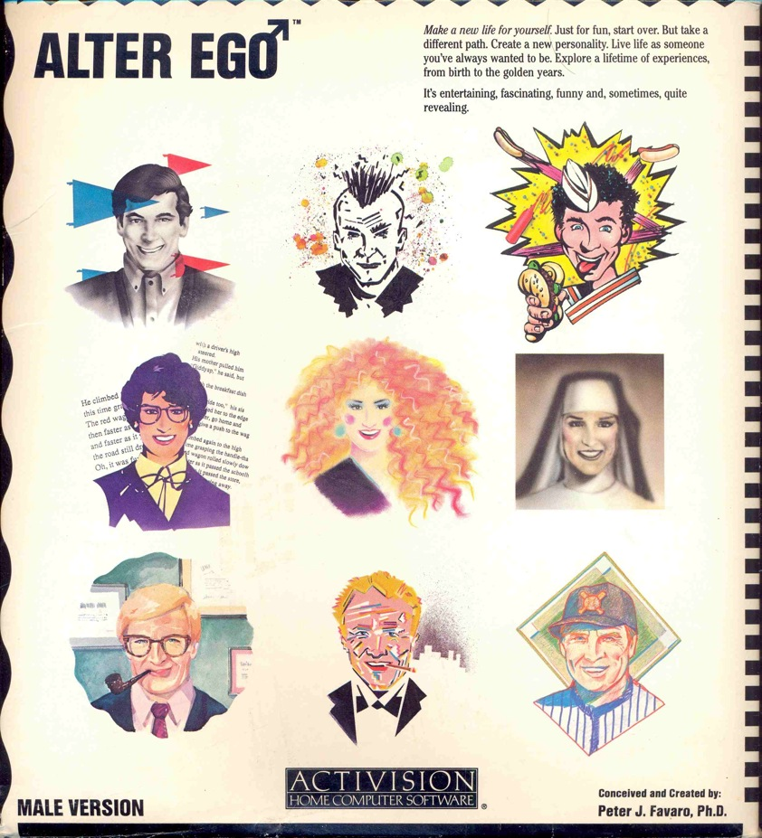 Alter Ego - Male Version Video Game Box Art - ID: 41820