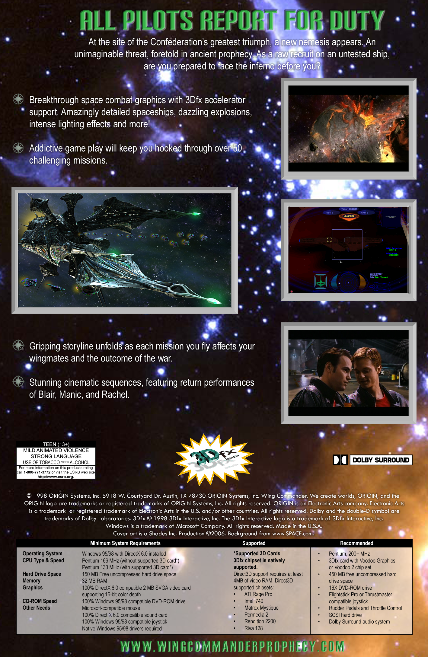 Wing Commander Prophecy Video Game Box Art Id 45948 Image Abyss