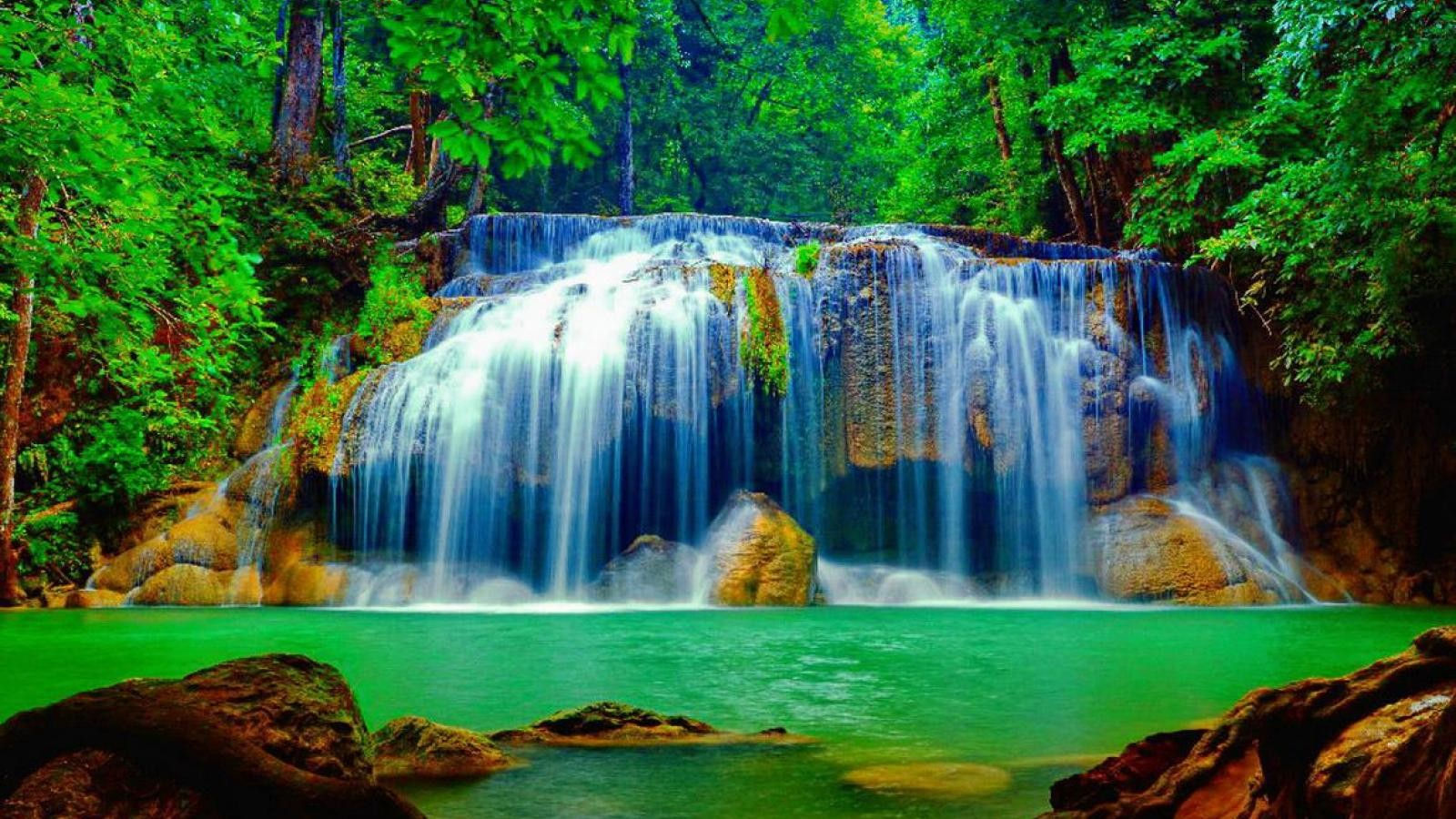 Waterfall in the forest image id 4755 image abyss - Waterfalls desktop wallpaper forest falls ...