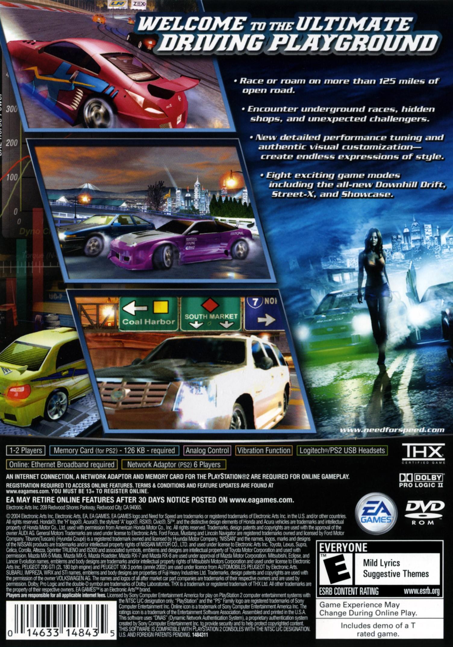 Need For Speed Underground 2 Video Game Box Art Id 55656