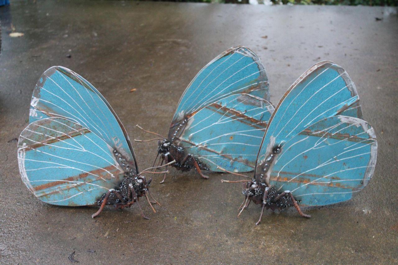 Бабочки из металла своими руками сварка