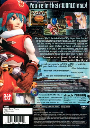 Preview Video Game - .hack//Infection Images